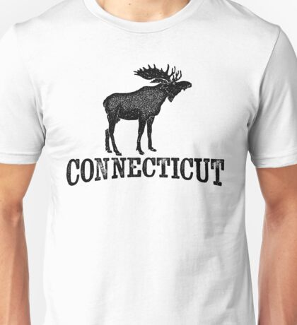 Connecticut T-shirt - Moose Unisex T-Shirt
