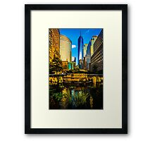 The Sunset Colors Of Battery Park City Framed Print