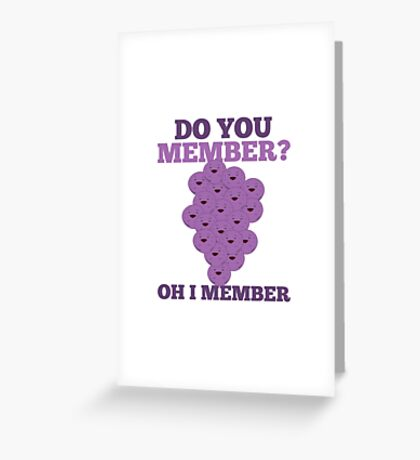 Member Berries Greeting Card