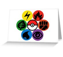 Pokemon Sacred Geometry Greeting Card