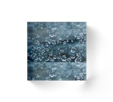 Blue Diamonds Acrylic Block