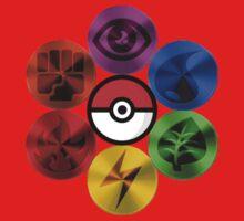 Pokemon Sacred Geometry Metallic Baby Tee