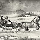 Sleigh Ride in a Winter Wonderland by Vintage Works