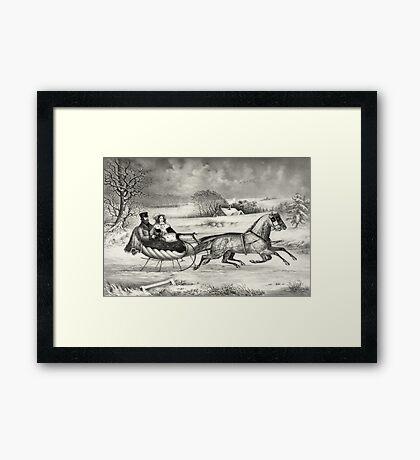 Sleigh Ride in a Winter Wonderland Framed Print