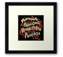 SyFy Monster Movie Mash Halloween Framed Print