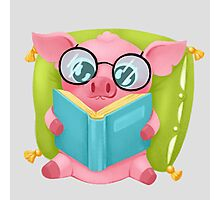 Molly the Micro Pig - Cute Reader Photographic Print