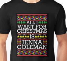 All I Want for Christmas is Jenna Coleman - Black Spangle Unisex T-Shirt