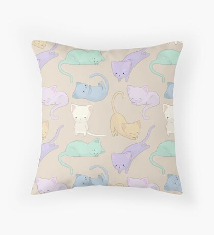 A Purrfect Cat Pattern Throw Pillow