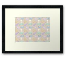 A Purrfect Cat Pattern Framed Print