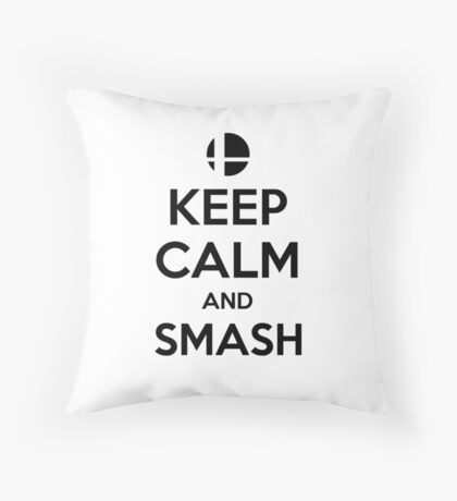 Keep Calm and Smash Throw Pillow