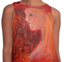 Lady in Red Contrast Tank