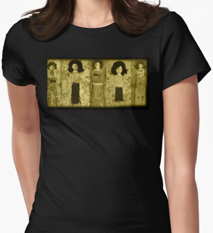 Sepia Doll procession  Womens Fitted T-Shirt
