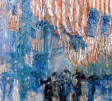 Childe Hassam The Avenue in the Rain Sticker