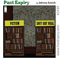 Cartoon :  Non-Fiction Books Photographic Print