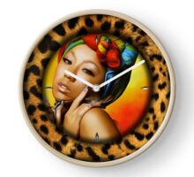 048 Wall Clock Girl with colorful scarf Clock