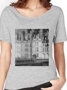Chateau Chambord Black and White  Women's Relaxed Fit T-Shirt