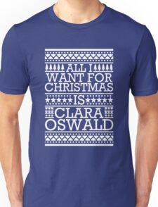 All I Want For Christmas is Clara Oswald - Blue Scandi Unisex T-Shirt