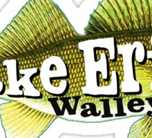 WALLEYE LAKE ERIE FISHING FISH GREAT LAKES BOAT BOATING OHIO MICHIGAN CANADA NEW YORK Sticker
