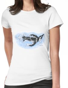 Diving penguin Womens Fitted T-Shirt