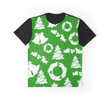 Green Christmas Background Graphic T-Shirt