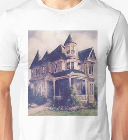 Victorian House Oil Painting Unisex T-Shirt