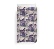 Victorian House Oil Painting Duvet Cover