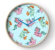 Fat Unicorn Tumble Clock