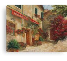 Panini Cafe' by Chris Brandley Canvas Print