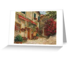 Panini Cafe' by Chris Brandley Greeting Card