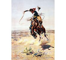 Charles Marion Russell A Bad Hoss Photographic Print