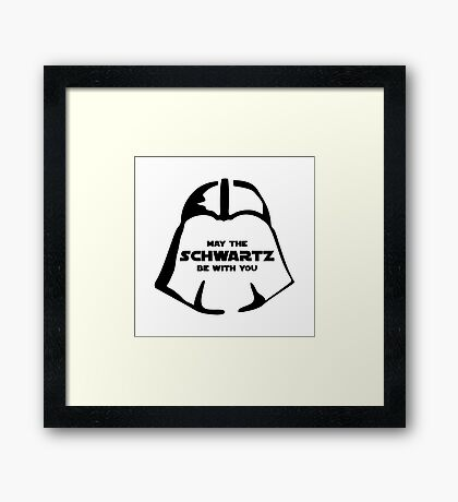 Schwartz Be With you Framed Print