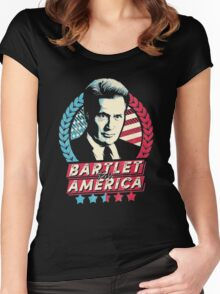 The West Wing Bartlet for America  Women's Fitted Scoop T-Shirt