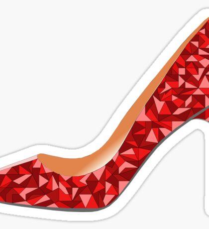 Red High Heel Shoe Sticker