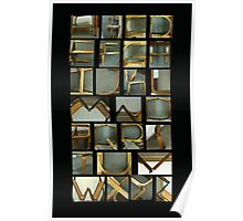 Alphabet Chairs Poster