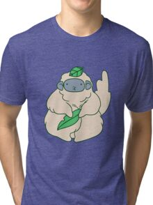 Fluffy Leaf Monkey Tri-blend T-Shirt
