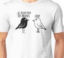 Funny Des Moines Iowa T-shirt - Cartoon Birds Unisex T-Shirt