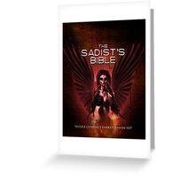 The Sadist's Bible Shirt Greeting Card