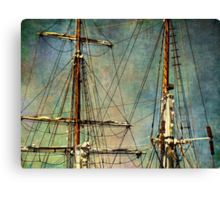 Up in the rigging Canvas Print