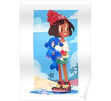 Popplio by the sea Poster