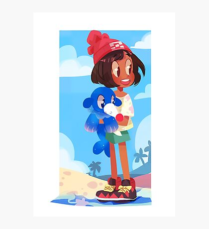 Popplio by the sea Photographic Print