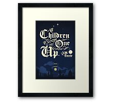 all children except one Framed Print
