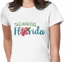 Tallahassee Florida T-shirt - Hibiscus Flower Womens Fitted T-Shirt