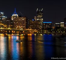 Pittsburgh and the River at Night by BLaskowsky