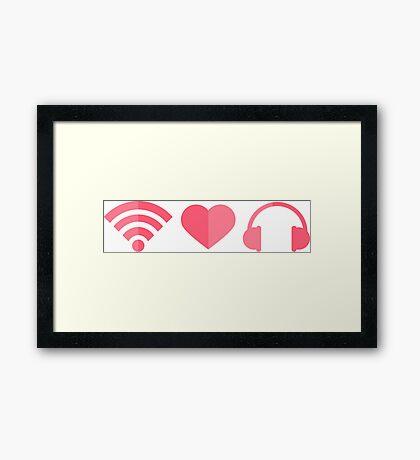 wifi-love-music Framed Print