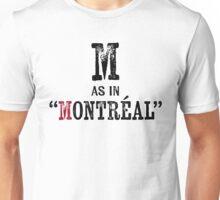 Montreal Quebec T-shirt - Alphabet Letter Unisex T-Shirt