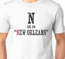 New Orleans Louisiana T-shirt - Alphabet Letter Unisex T-Shirt