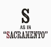 Sacramento California T-shirt - Alphabet Letter Kids Tee