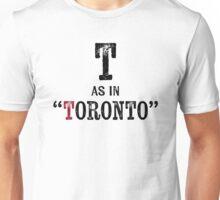 Toronto Canada T-shirt - Alphabet Letter Unisex T-Shirt