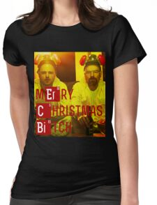Merry Christmas, B***h - Walt and Jesse (Breaking Bad) Womens Fitted T-Shirt