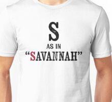 Savannah Georgia T-shirt - Alphabet Letter Unisex T-Shirt